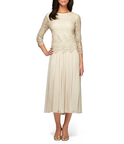 dillards dresses for alex evenings scalloped lace bodice dress dillards