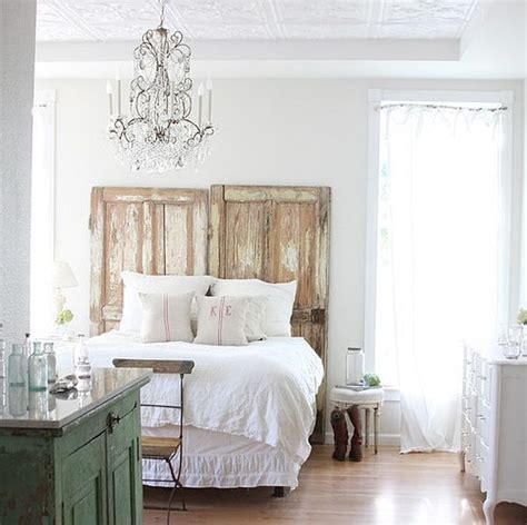 Door Bed Headboard by Repurposing Doors As Bed Headboard