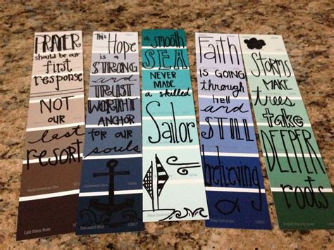 Handmade Bookmarks With Quotes - bookmarks from paint sles diy