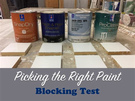 picking the right paint blocking test the craftsman