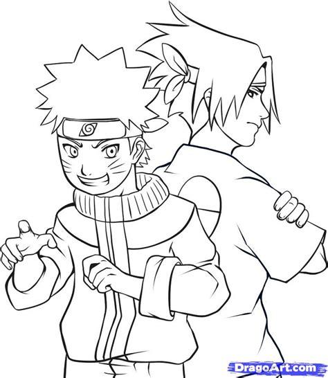 how to draw naruto draw naruto and sasuke step by step drawing sheets