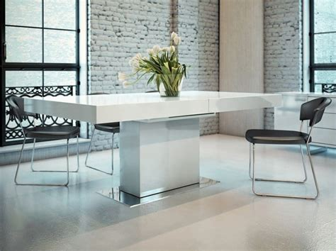 Modloft Astor Dining Table In White Lacquer Modern Modern White Dining Table