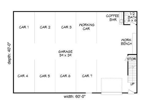 garage shop floor plans garage plans with loft 8 car garage loft plan 062g 0037 at thegarageplanshop