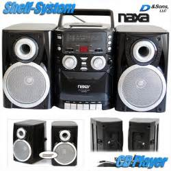 cd cassette stereo shelf system new naxa am fm radio cd cassette player portable stereo