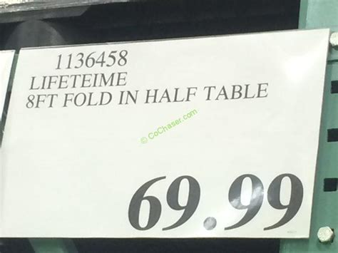 lifetime 8 ft table lifetime products 8ft fold in half table costcochaser