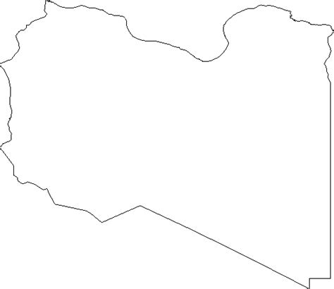 Libya Map Outline by Blank Outline Map Of Libya Clipart Best Clipart Best
