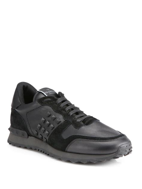 valentino sneakers mens valentino rockstud sneakers in black for lyst
