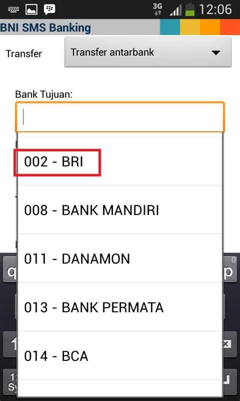 bca sms banking cara praktis sms banking bni ke bri