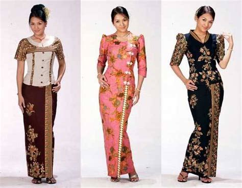 Dress Kemben Songket exquisite batik mode kleider