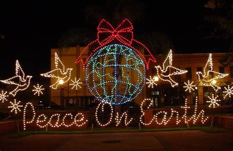 peace on earth exterior light display beautiful