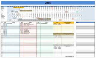 Excel Calendar Template by 2016 Calendars Excel Templates