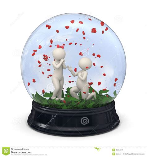 snow globe valentines 3d in a snow globe marriage