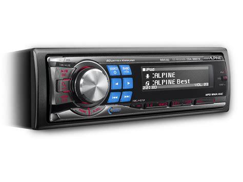 cd mp3 wma aac receiver alpine cda 9887r