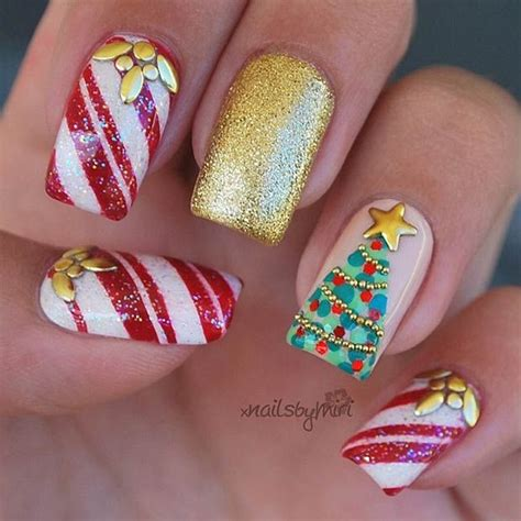 82 best winter christmas nail art images on pinterest