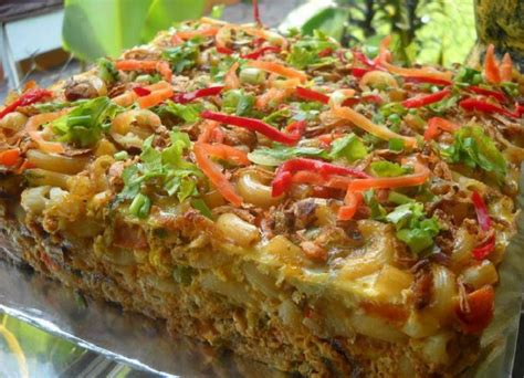 Makaroni Pedas Daun Jeruk Bandung resepi makaroni bakar