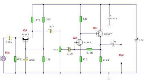 transistor microphone lifier circuit how to build dynamic microphone pre circuit diagram