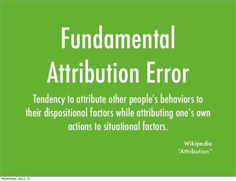 fundamental attribution error anthony r artino jr ph d