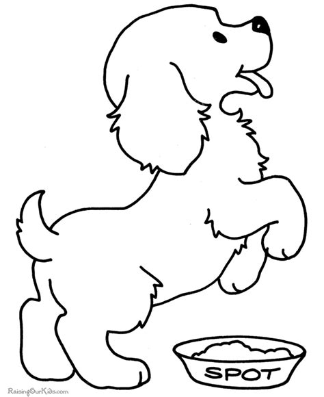 dog template for kids az coloring pages
