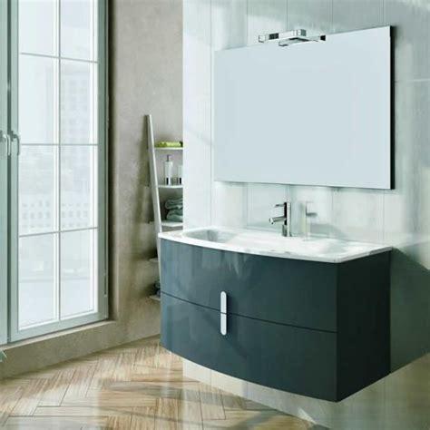 Vanity Powder Room Frontline Grandeur Gloss Grey 1000mm Vanity Unit Amp Basin
