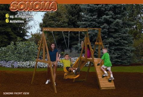 small space swing set sonoma swing set for small space activities pinterest