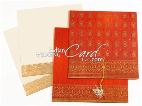 card lab wedding invitations d 761 orange color light weight cards hindu cards
