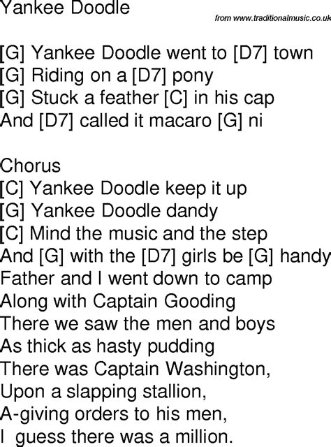doodlebug lyrics time song lyrics with guitar chords for yankee doodle g