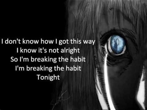 breaking the habit breaking the habit linkin park quotes quotesgram