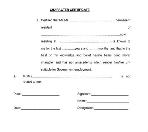 Format Template word certificate template 11 free documents in word