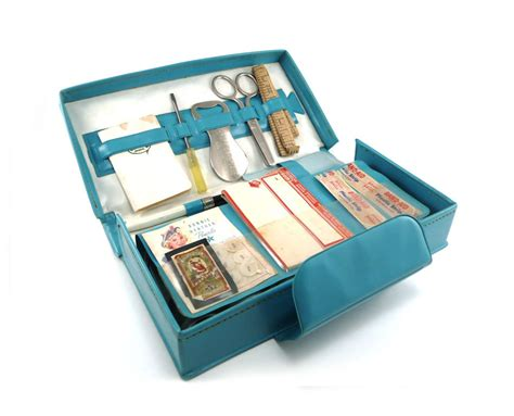 my friday home travel office supply kit in teal