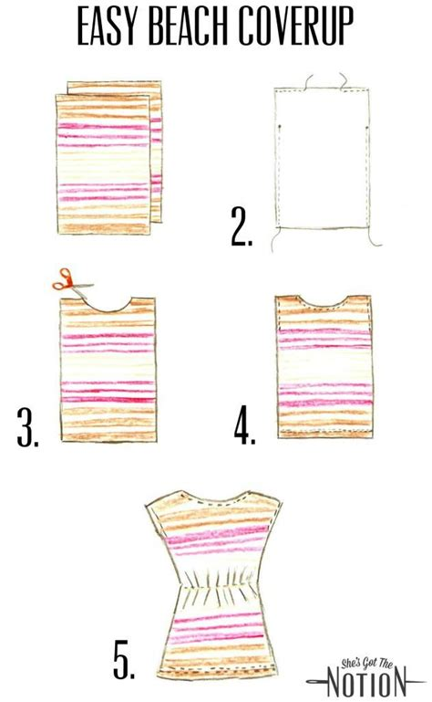 sewing pattern cover up easy beach cover up sewing tutorial she s got the