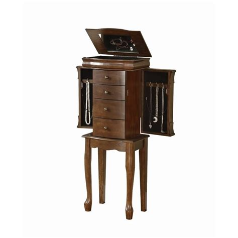 powell louis philippe jewelry armoire powell furniture louis philippe walnut jewelry armoire 741 319