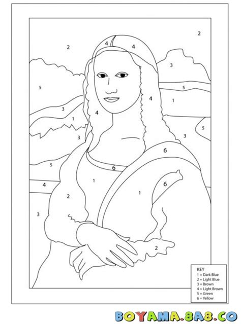 Free The Monalisa Coloring Pages Mona The Vire Coloring Pages