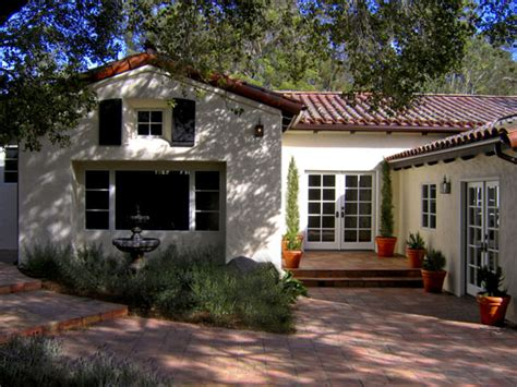 santa barbara style home plans santa barbara california before after spanish hacienda