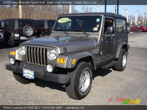 jeep wrangler light grey light khaki metallic 2004 jeep wrangler sport 4x4