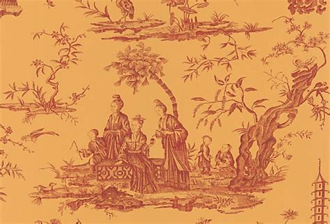 Define Chinoiserie by Chinoiserie Toile Wallpaper Gold