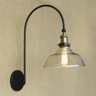 Glass Wall Sconce Light 1 Light Wall Sconce With Clear Glass Shade Beautifulhalo