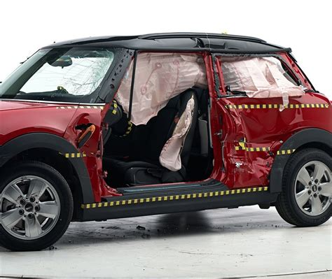 mini crash test mini cooper dispels safety myths with top marks from iihs