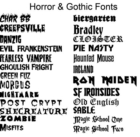 tattoo fonts b horror fonts font like this http www dafont