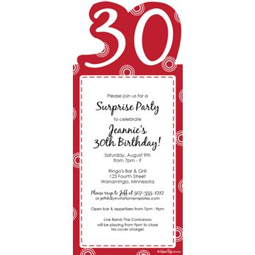 30th invite template wording for an 80th birthday invitation