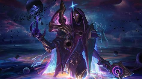 dark cosmic jhin splash art lol   wallpaper