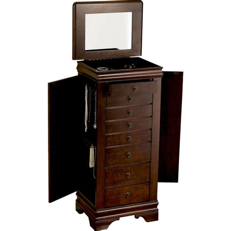 powell louis philippe jewelry armoire powell 508 315 louis philippe marquis cherry jewelry armoire