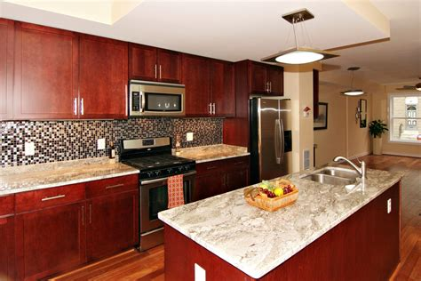 what color granite goes with cherry cabinets kitchen paint colors with cherry cabinets white granite