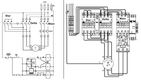 Delta Starter Circuit Diagram Without Timer
