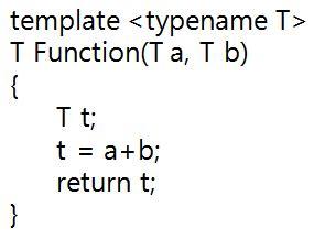 template typename c 템플릿 함수템플릿에 대한 이해 c언어 예술가