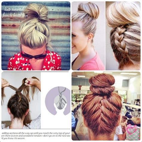 howtododoughnut plait in hair simple french braid updo hairstyles for medium hair bun