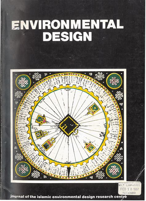 design for environment journal environmental design archnet