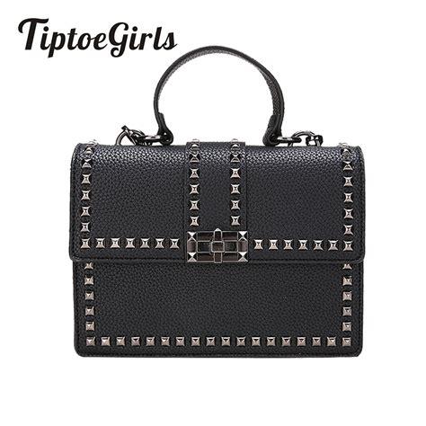 Korean Rivet Shoulder Bag new wide shoulder korean small square bag fashion