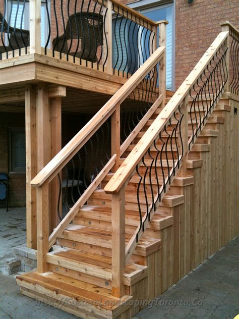 Patio Steps Design M E Landscaping Provides Toronto With Landscaping