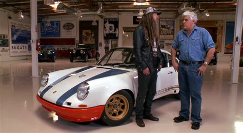 magnus walker garage magnus walker brings his porsche 911 72str 002 to jay leno