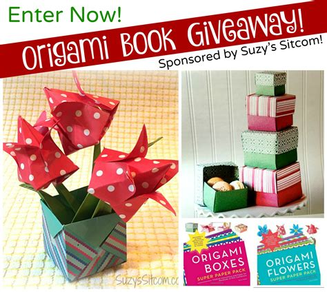 origami flower books origami flowers and boxes book giveaway